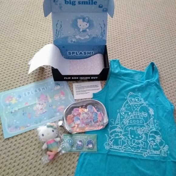 a9b082836 Sanrio Tops | Hello Kitty Gift Box Summer Loot Crate | Poshmark